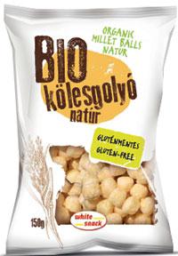 White Snack BIO Kölesgolyó sós, tengeri sóval, ellenőrzött ökológiai gazdálkodásból 150g
