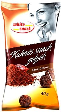 WhiteSnack-kakaós snack golyók édesítőszerrel 40g