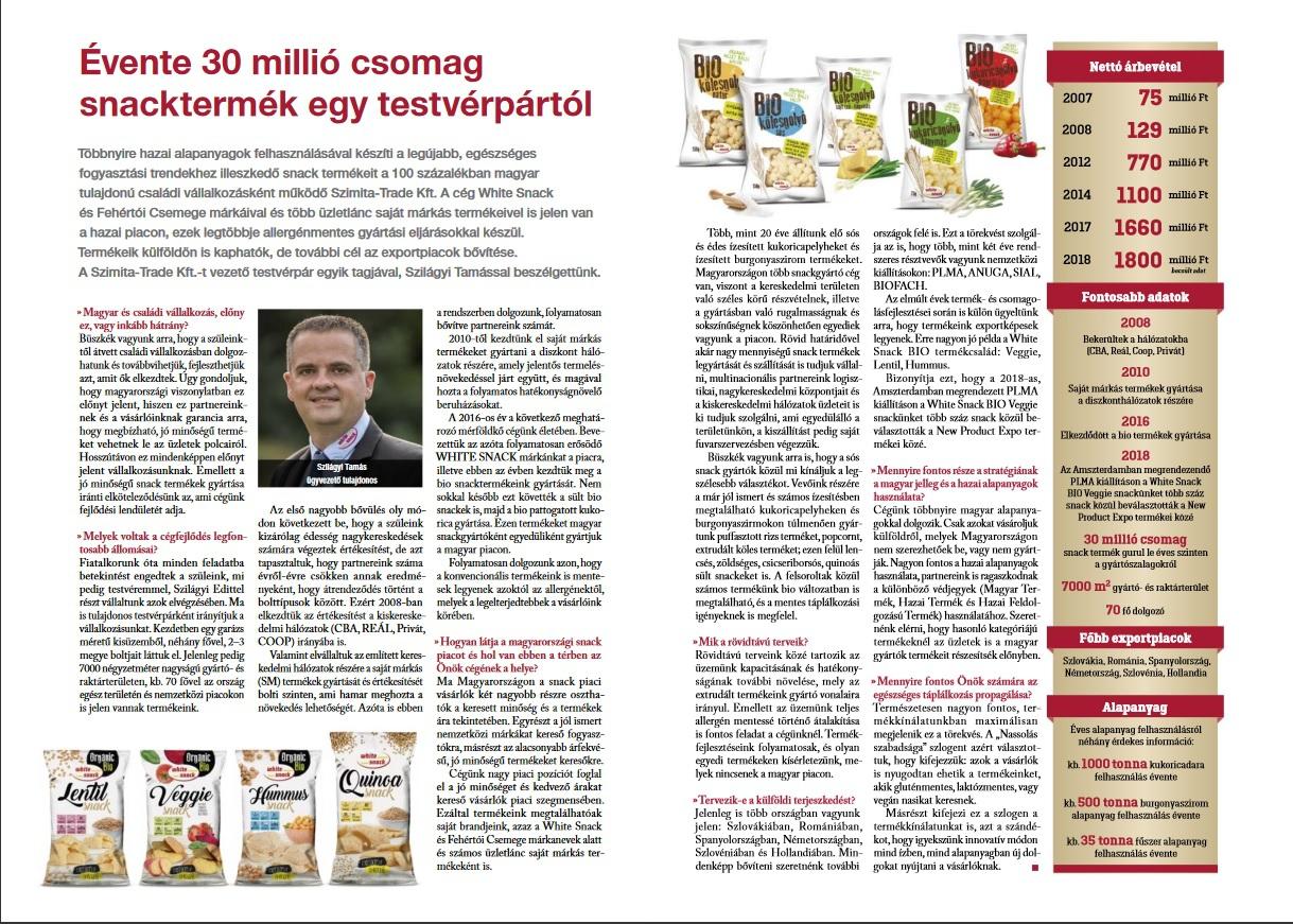 Termékmix - 2018.07-08 - Interjú  - 30 millió csomag snack termék évente