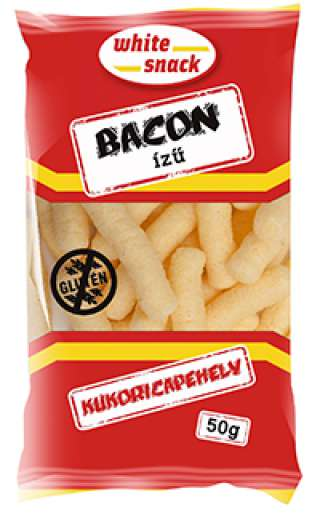 White Snack gluténmentes bacon ízű kukoricapehely 50g