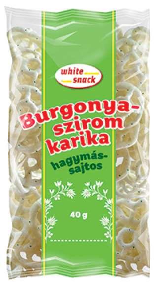White Snack Burgonyaszirom karika hagymás-sajtos 40g