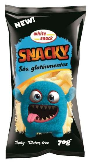 White Snack SNACKY Sós gluténmentes 70g kissebb