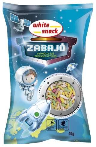 White Snack ZABAJO_Gyumolcs_izu_puffasztott_rizs_3D_termekkel