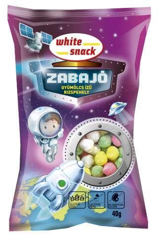 White Snack ZABAJO_Gyumolcs_izu_rizspehely_3D_termekkel